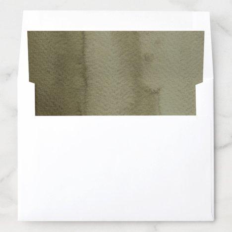 Boho Khaki Green Envelope Liner