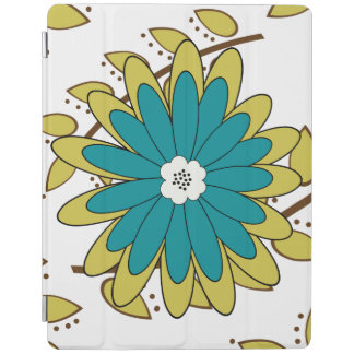 Boho Leaves and Flowers iPad Cover