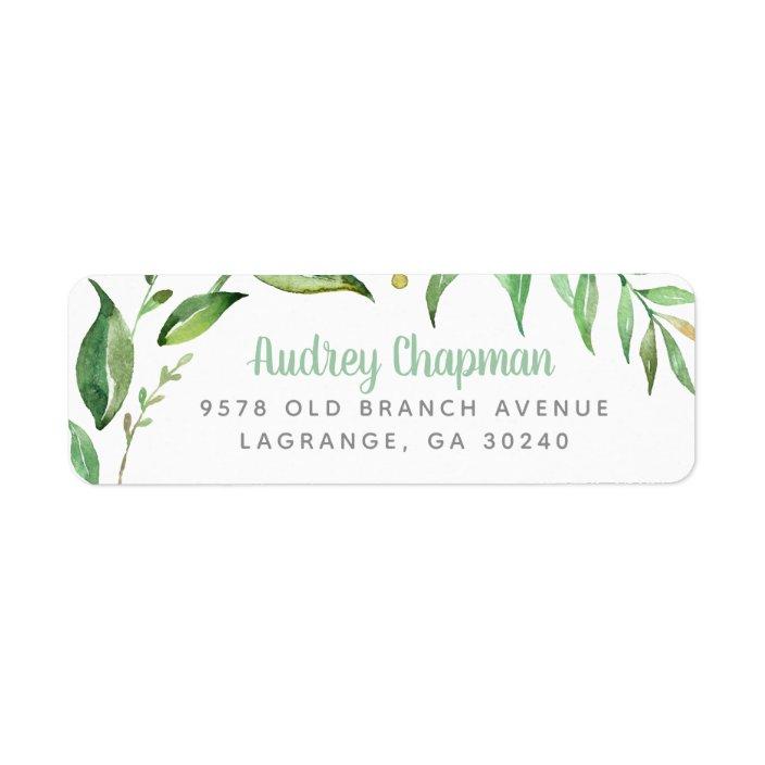 30 Custom Fall Leaves Personalized Address Labels