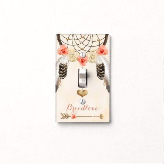 Boho Light Switch Covers Dreamcatcher Bohemian | Zazzle.com