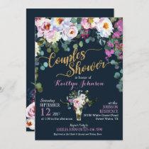 Boho Longhorn Cow Skull Floral Bridal Shower Invitation