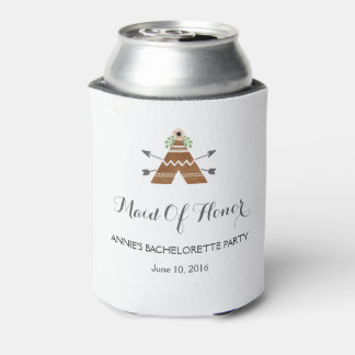 Boho Maid of Honor Bachelorette Can Cooler