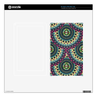 Boho mandala abstract pattern design skins for kindle fire