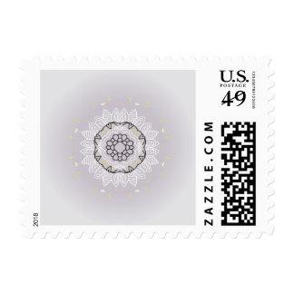 Boho mandala designers vintage Post stamp