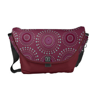 Boho Medallian Messenger Bag - Bordeaux