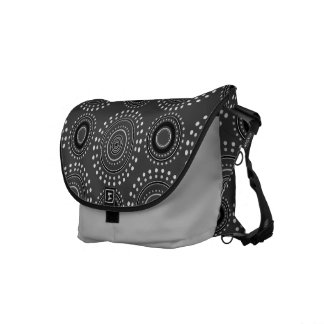 Boho Medallian Messenger Bag - Charcoal Gray