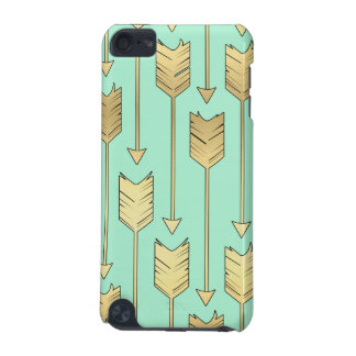 Boho Mint and Faux Gold Arrows Pattern iPod Touch 5G Case
