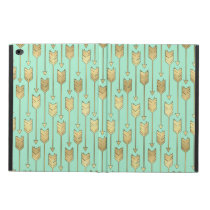 Boho Mint and Faux Gold Arrows Pattern Powis iPad Air 2 Case