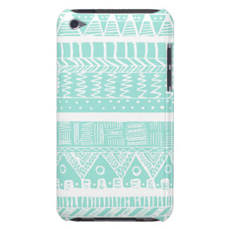Boho Mint Aztec Barely There iPod Cases