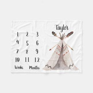 Boho Monthly Baby Milestone Photo Prop Blanket