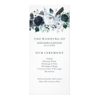 Boho Navy Peony | Wedding Program