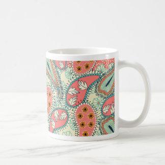 Boho Paisley Border Coffee Mug