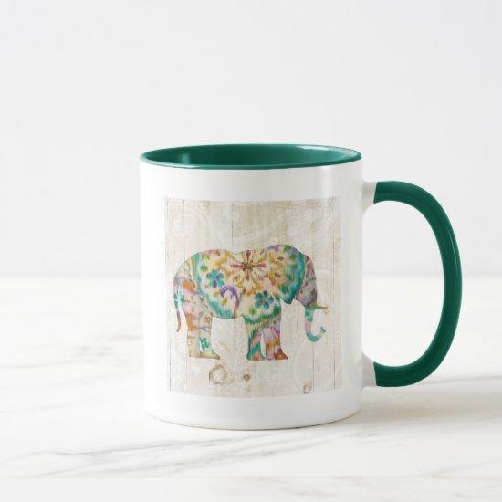 Boho Paisley Elephant I Mug