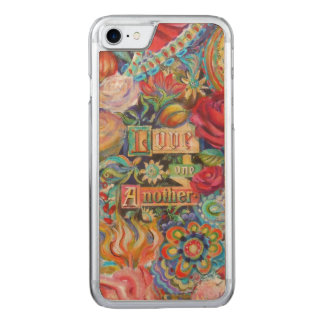 Boho Paisley Love Fantasy Carved iPhone 7 Case