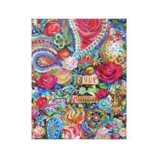 Boho Paisley Love One Another Canvas Print