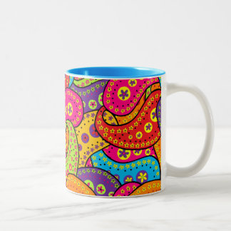 Boho Paisley Two-Tone Coffee Mug