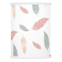 Boho Pastel Feathers Nursery Decor Lamp Shade