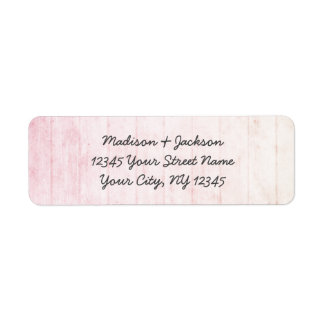 Boho Pastel Wood Grain Wedding Return Address Label