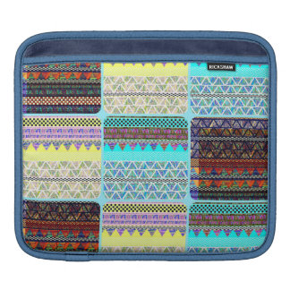 Boho Patchwork of Tribal Ethnic Stripes Sleeve For iPads