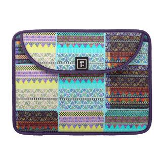 Boho Patchwork of Tribal Ethnic Stripes Sleeve For MacBooks