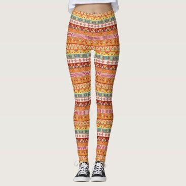 Aztec Themed Boho Pattern 3 ~ Leggings
