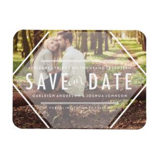 Boho Photo Save the Date Magnet Invitations