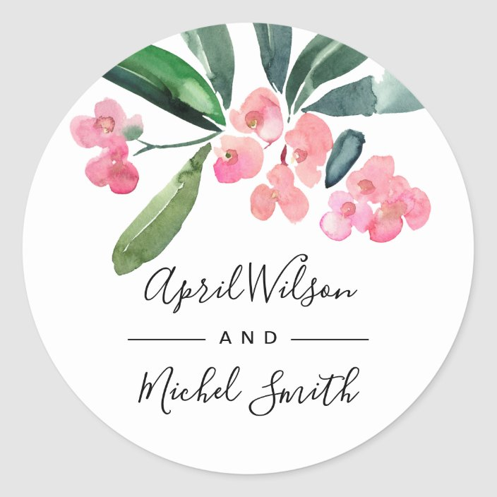 Made-to-Order License Plate Vehicle Tag Watercolor Leafy Floral Design