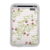 Boho Pink Floral Pattern iPad Mini Vertical Sleeve For iPad Mini