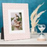 Boho Pink Trellis Photo Plaque
