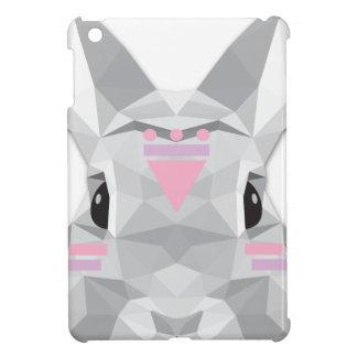 Boho poly rabbit iPad mini cover