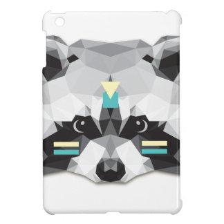 Boho poly raccoon iPad mini cases