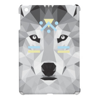 Boho poly wolf iPad mini cover