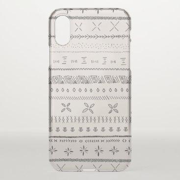 Aztec Themed Boho Print iPhone X Case