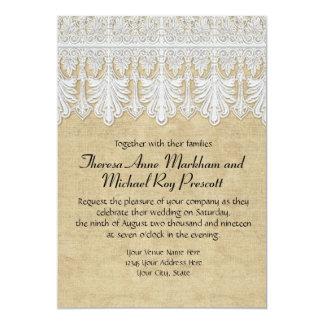 BOHO Printed Burlap n Lace gypsy Modern Mod Style Card