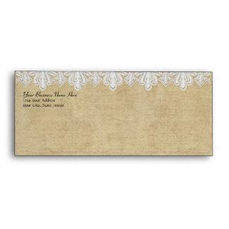 BOHO Printed Burlap n Lace gypsy Modern Mod Style Envelope