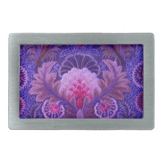 Boho púrpura de seda hebillas de cinturon rectangulares