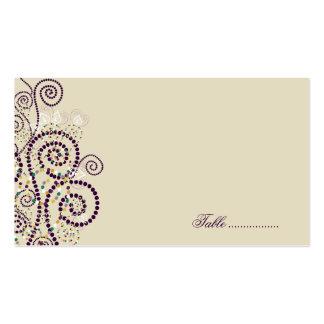 Boho púrpura tuerce en espiral las tarjetas tarjetas de visita