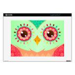 Boho Red & Green Owl Laptop Skin