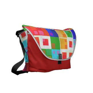 Boho Retro Squares Courier Bags