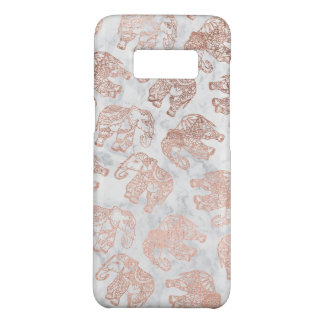 Boho rose gold paisley elephants white marble Case-Mate samsung galaxy s8 case