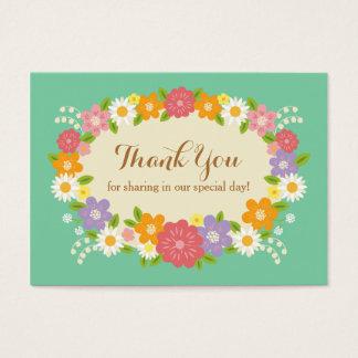 Boho Rustic Floral Wreath Wedding (Mint) Business Card