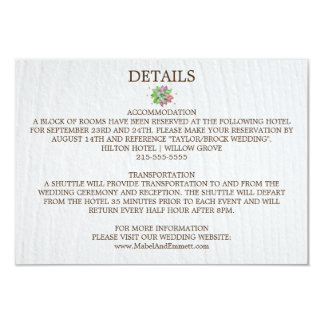 Boho Rustic Mint Floral Succulent Wedding Details Card