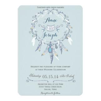 Boho rustic wedding invitation