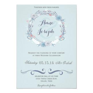 Boho rustic wedding invitation II