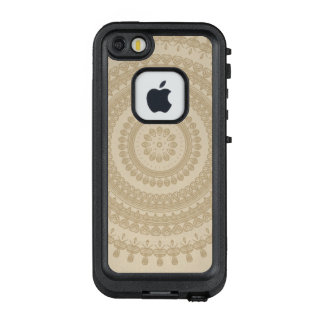 Boho Sand Tribal Circle Mandala Tan Earthen Brown LifeProof FRĒ iPhone SE/5/5s Case