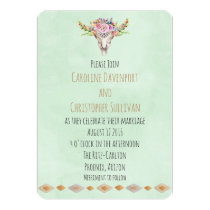 Boho Southwestern Cow Skull Wedding Invite