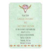 Boho Southwestern Cow Skull Wedding Invite