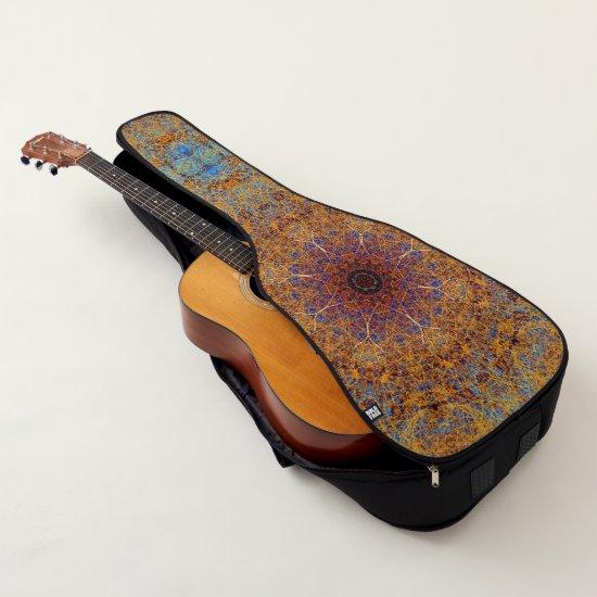 Boho Spyrograph Lacy Mandala Filigree Mosaic Guitar Case