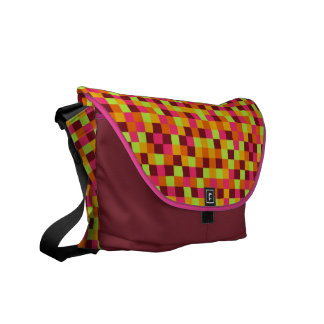 Boho Squares Rickshaw Messenger Bag