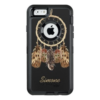 Boho Style Dream Catcher With Custom Monogram Otterbox Defender Iphone Case by DancingPelican at Zazzle